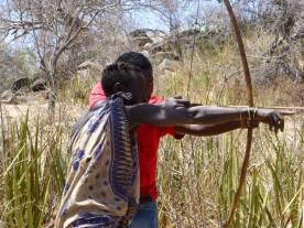 Hunting with hadzabe at Lake Eyasi