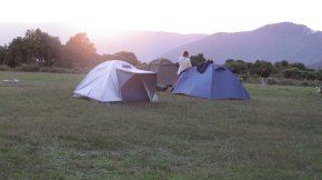 The campsite at Ngorongoro